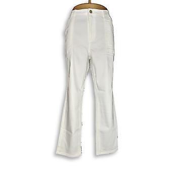 Isaac Mizrahi Live! Women's Jeans TRUE DENIM Ankle White A289641