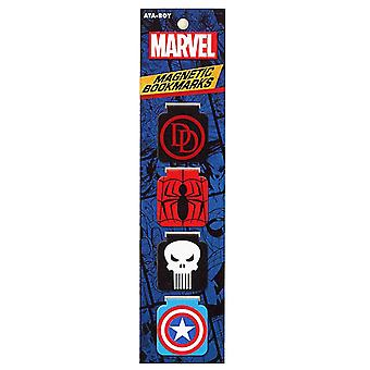 Marvel Logos Bookmark Set