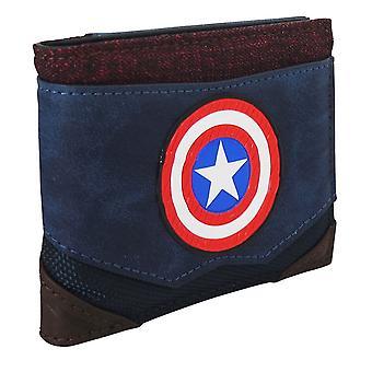 Kapteeni Amerikka kromi hitsaus miehet ' s bi-fold lompakko