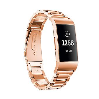 Stainless steel bracelet compatible with Fitbit Charge 3