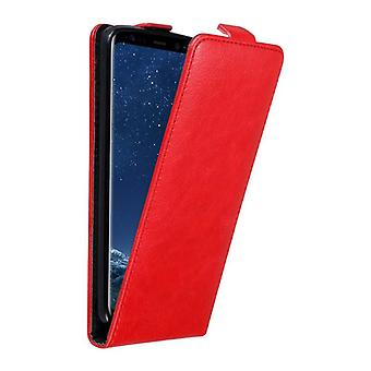 Cadorabo Hülle für Samsung Galaxy S8 Case Cover - Handyhülle im Flip Design mit Magnetverschluss - Case Cover Schutzhülle Etui Tasche Book Klapp Style