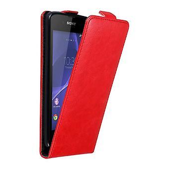 Cadorabo Case för Sony Xperia E3 fodral Cover-telefon fodral i flip design med magnetstängning-Case fodral fodral fall Bokvikning stil