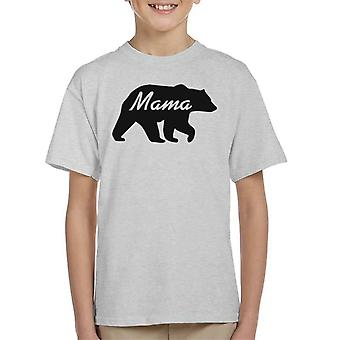 Mama Bear Silhouette Kid's T-Shirt