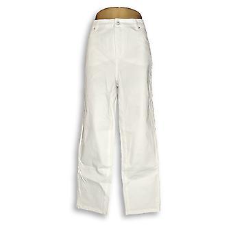 Isaac Mizrahi Live! Damen's Jeans Colored Denim Weiß A290885