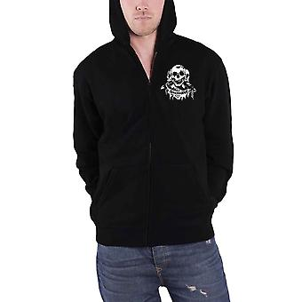 Discharge Hoodie Hear Nothing Band Logo new Official Mens Black Zipped