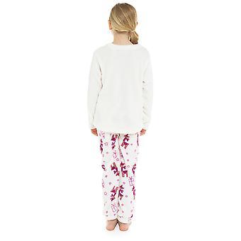 Kinderen nieuwigheid Lama fleece Pyjama's set