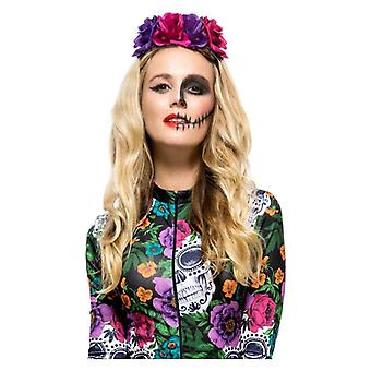 Womens Day of the Dead Rose Headband Accessoire Halloween