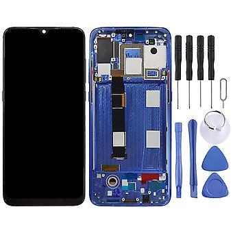 Для Xiaomi Mi 9 Дисплей Синий Полный OLED LCD блок Touch с рамой Запасные Части Ремонт