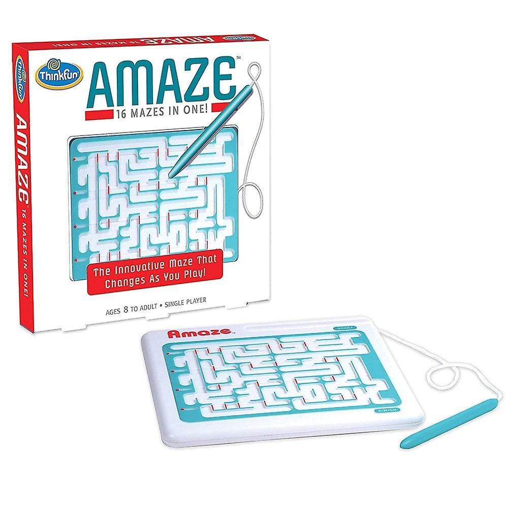 Think Fun -Amaze - 16 Mazes In One. Age8+ Travel Game