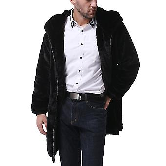Allthemen Men's Solid Plush Thick Warm Com capuz Casual Zipcoat