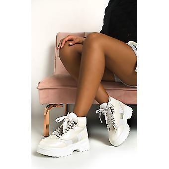 IKRUSH Womens Nina Lace Up Flat Boots