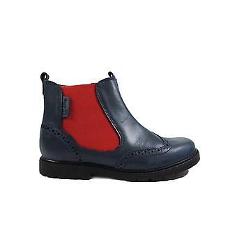 Startrite Digby Navy Leather Boys Zip Up Chelsea Boots