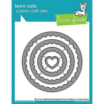 Lawn Fawn Reverse Stitched Scalloped Circle Windows Dies