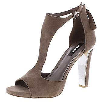 DKNY Womens Colby Suede Pumps Dress Sandals Taupe 6.5 Medium (B,M)
