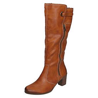 Dames RIEKER hakken knie hoge laarzen Y8980