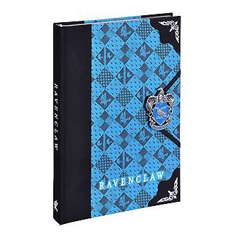 Harry Potter Premium Notizbuch Ravenclaw Wappen blau, Hardcover, gebunden, mit handemailliertem Emblem, liniert.