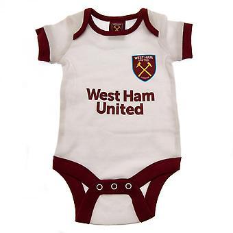 West Ham United FC Baby WT Bodysuit (förpackning med 2)