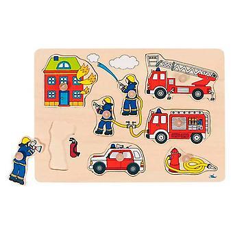 Goki Houten Steekpuzzel - Brandweer
