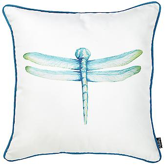 """18 """"x 18"""" aquarel Dragonfly afgedrukt decoratieve gooien kussensloop"""