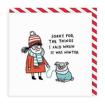 Ohh Deer When It Was Winter Square Greeting Card