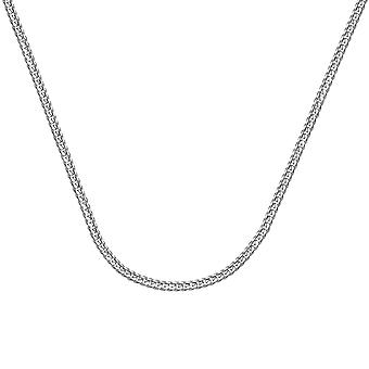 14k White Gold Curb Chain Necklace 1.4mm Lobster Claw Closure Jewelry Gifts for Women - Length: 16 to 24
