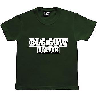 Bolton Wanderers Postnummer Racing Green Kids' T-shirt