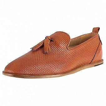 Hudson Comber Leather Loafers Tan Brown