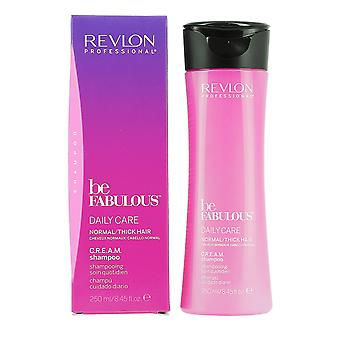 Revlon Professional Be Fabulous CREAM Shampoo Daily Care 250ml Normal / Thick Hair