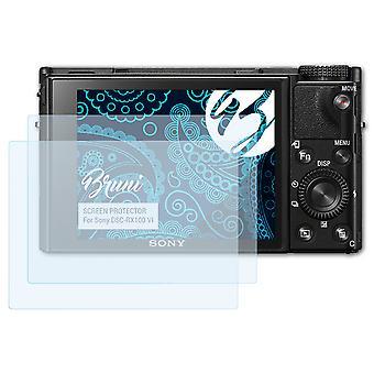 Bruni 2x Pellicola Protettiva compatibile con Sony DSC-RX100 VI Proteggi Schermo