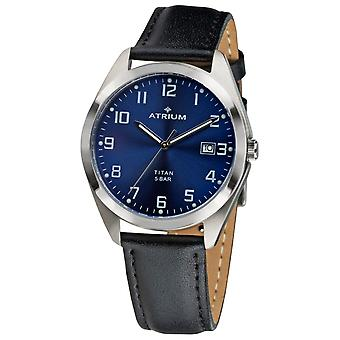 ATRIUM Men's Watch Wristwatch Titanium A14-15 Leather