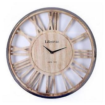 Reloj de pared de madera grande