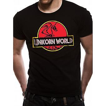 CID Originals Unisex Adults Unicorn World Design T-Shirt