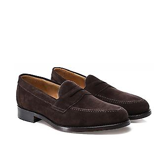 Loake Suede Imperial Loafers