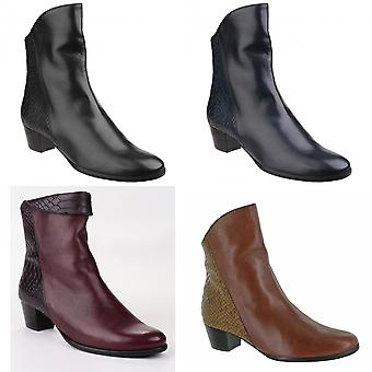 Riva Womens/Ladies Armadillo Pitone Leather Zip Up Ankle Boots
