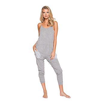 Womens Comfortable and Cozy Pajama Jumpsuit Pockets Sleepwear Loungewear