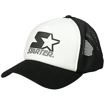 Starter Women's Mesh-Back Trucker Cap, , Blanc/Noir, Taille Une Taille