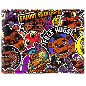 Freddy Fazbear Fazbear Pizza ID & Karte Bi-Fold Geldbörse