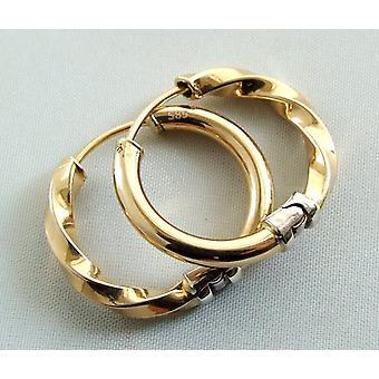 Gold 14 carat Christian earrings