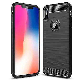 Brushed back carbon case for apple iphone x