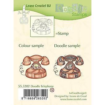 LeCrea - Doodle clear stamp Telephone 55.3202