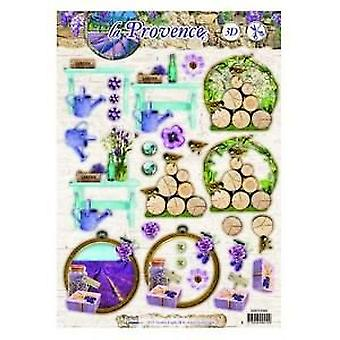 Studio Light Easy 3D Die cut sheet A4 La Provence nr 482 EASYSLP482