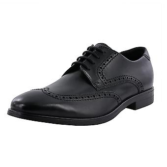 ECCO 621664 Melbourne - Men's Lace-up Brogue Leather Shoes In Black