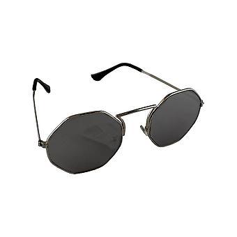 Zonnebril 6-hoek UV 400 Zilver Zwart1892_4