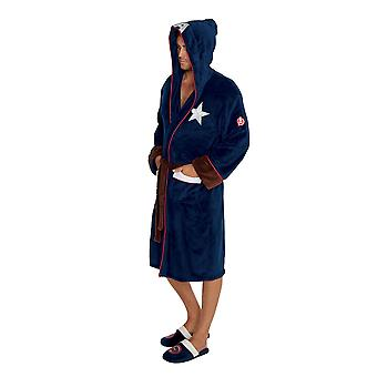 Mens Marvel Captain America Civil War Fleece Bathrobe Dressing Gown Official Merchandise