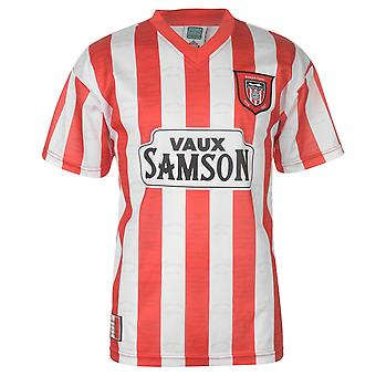 Score Draw Mens SAFC 97 Home Jersey Top Short Sleeve V-Neck