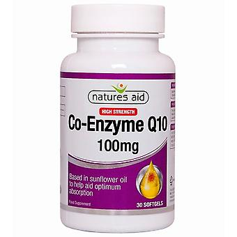 Nature's Aid CO-Q-10 100mg (Co-Enzym Q10) Softgels 30 (125210)