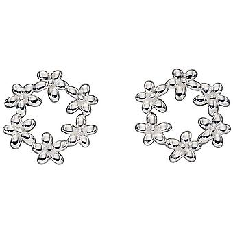 Elemente Silber Blume Girlande Ohrringe - Silber