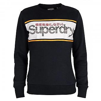 Superdry Core Logo Stripe Crew UB Sweatshirt Navy 98T