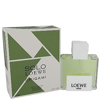 Solo Loewe Origami Eau De Toilette Spray By Loewe 3.4 oz Eau De Toilette Spray