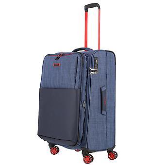 travelite Proof Trolley M, 4 rullar, 68 cm, 61 L, Blå